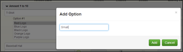 Add Option 3